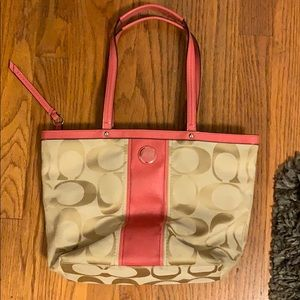 Pink Coach Tote